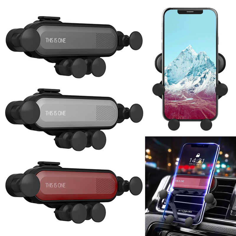 Car Phone Holder Car Air Vent Mount Stand No Magnetic Mobile Phone Holder Universal Gravity Smartphone Cell Support