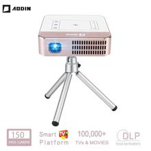 AODIN WOW Portable Mini WIFI Smart HD Projector 150 Ansi Lumen LED DLP TV