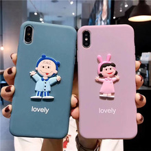 Cartoon 3D Charlie Lucy phone case For iphone 7 8 Plus 6 6s Plus scrub soft silicone cover For iphonexs max xr x cute back cover