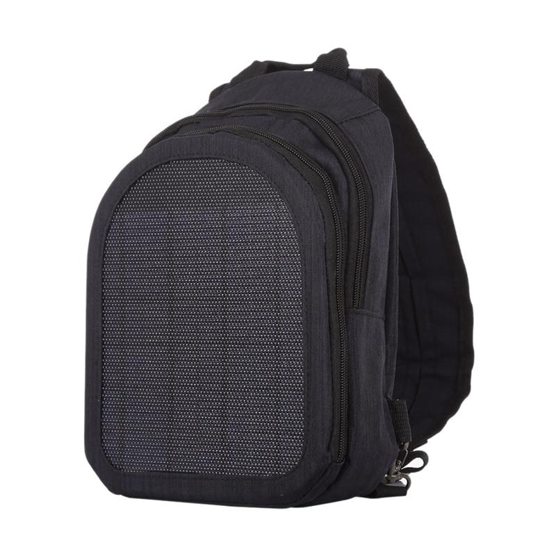 Haweel 5W Solar Panel Power Single & Double Shoulder Backpack Bag