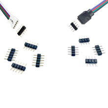 100pc 4 pin коробка передач/5pin коннектор rgbw адаптер штырь