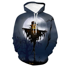 LISCN 2019 Halloween new autumn and winter hoodie 3D printing death pumpkin head print couple models