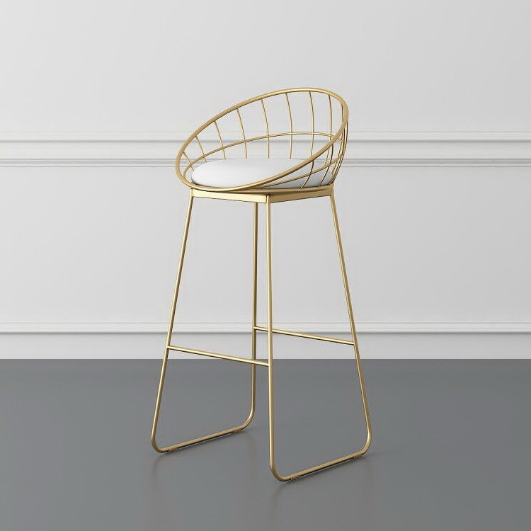 M8 Simple Bar Stool Wrought Iron Bar Chair Golden High Chair Chair Lounge Chair Nordic Bar Chair Bar Stool