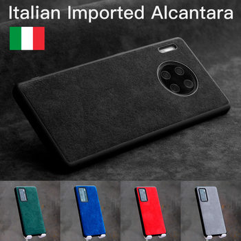YMW ALCANTARA Case for HUAWEI HONOR 20 Pro P40 30 Lite Mate 30 20 10 Pro Luxury Artificial Leather Business Phone Cases Cover
