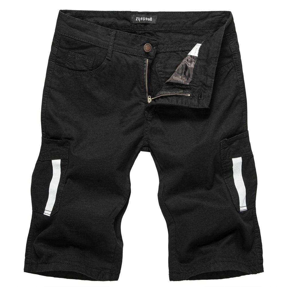 2019 Summer MEN'S Shorts With Multi-Bags Loose Casual Knee-length Denim Shorts Short Beach Shorts