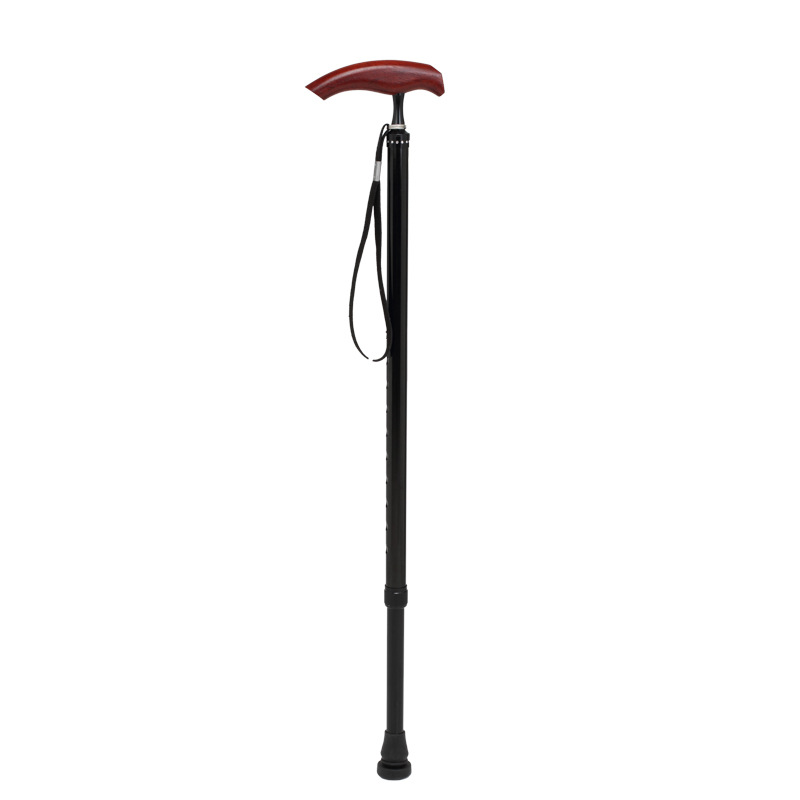 Cy Aluminum Alloy Walking Stick Old Man Single Foot Walking Stick Elderly Four Corners Wand Collapsible Anti-slip Stick