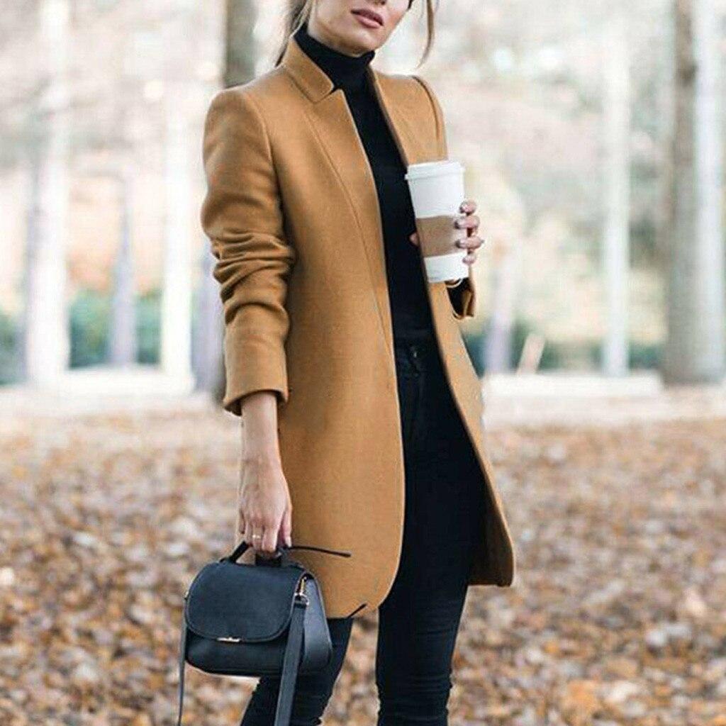 2020 Coat Woolens Overcoat Women's Wool Coats Long Tops Female Autumn Winter Coats And Jackets Women Plus Size Coat S-5XL