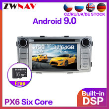 PX6 4+64 Android 9.0 Car Stereo Multimedia DVD Player GPS for Toyota Hilux Fortuner 2012 2013 2014 Radio Audio headunit Free Map(China)