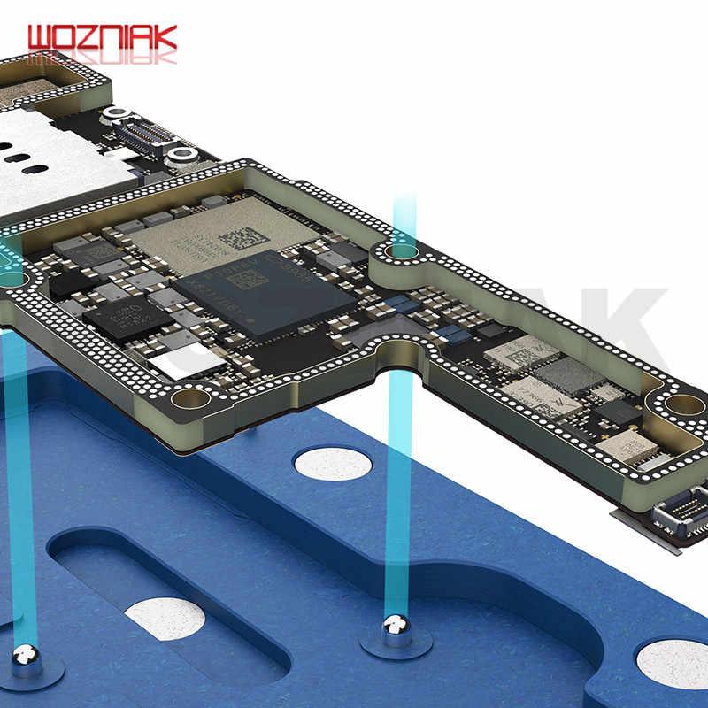 Qianli quadro médio plataforma reballing telefone celular dispositivo elétrico de solda para iphone x xs 11 pro max placa lógica reparação dispositivo elétrico líquido