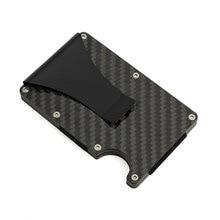 Metal Mini Money Clip Brand Fashion RFID Anti-thief Wallet Men Carbon Fiber  Clips