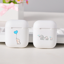 Cartoon white Cases For Apple AirPods Lovely Dumbo Baby Elephant For Apple Wireless bluetooth Airpods 1 2 Protection Cover Cases