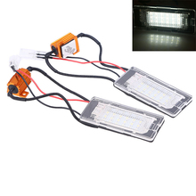 1 Pair White Auto Car License Plate LED Light Lamps Bulb For VW Touran 11 Error Free Styling External Lights