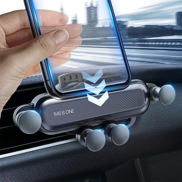 GETIHU 중력 자동차 전화 홀더 공기 환기 클립 마운트 아이폰 11 프로 X XR xiaomi에 대한 자동차 스탠드에 자기 휴대 전화 지원 없음