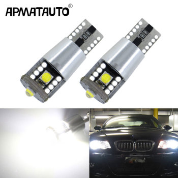 2pcs White 168 194 W5W LED Canbus Clearance Bulbs For Parking/Position Lights For BMW E46 E39 E91 E92 E93 E28 E61 F11 E63 E64 image