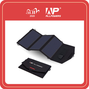 Image 1 - ALLPOWERS 18V 21W Solar Charger Panel Waterproof Foldable Solar Power Bank for 12v Car Battery Mobile Phone Outdoor Hiking