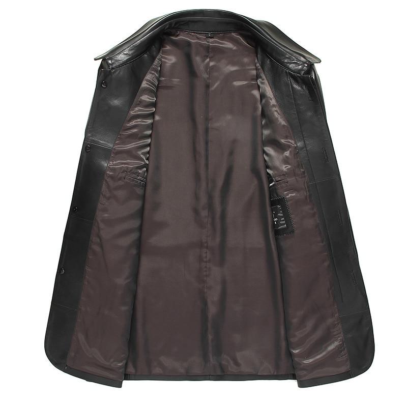 2020 Men's Sheepskin Coat Men Blazer Windbreaker Leather Jackets Spring Autumn Genuine Leather Jacket 81Y878 YY254