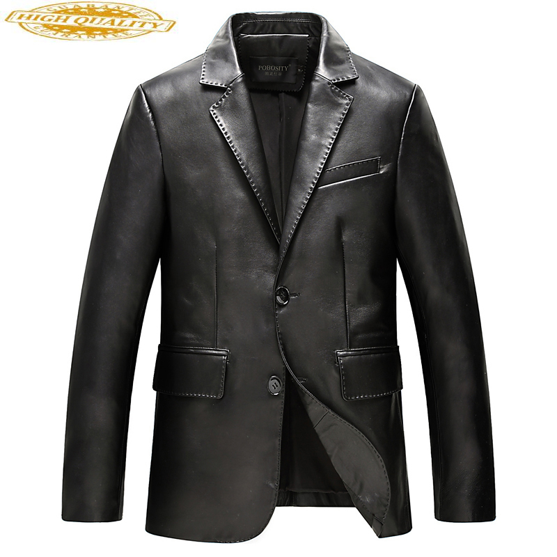Men's 100% Genuine Leather Jacket Autumn And Winter Jacket Men Coat Sheepskin Leather Jackets Jaqueta De Couro KJ618
