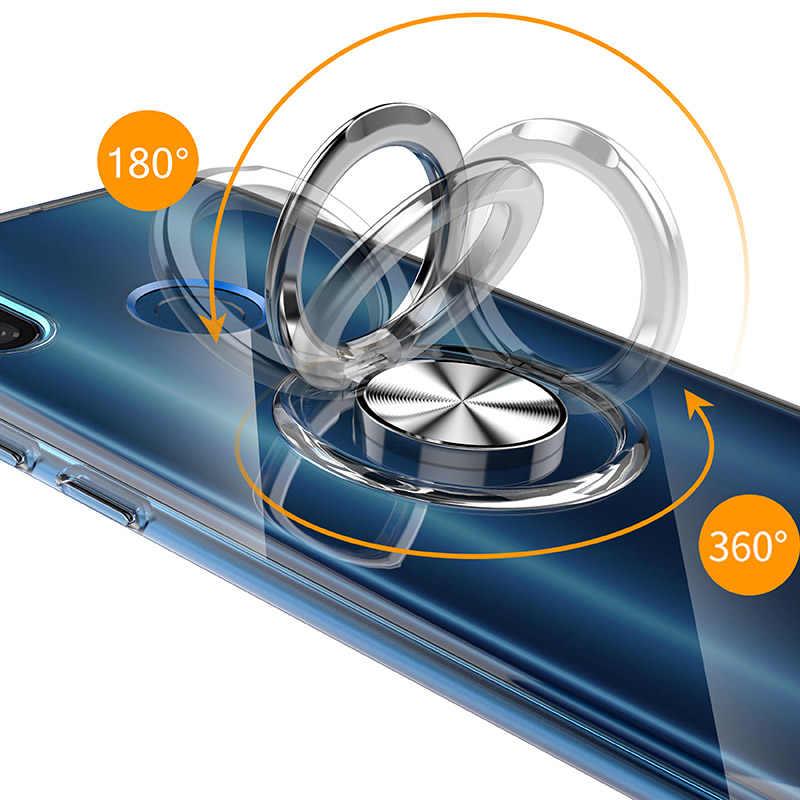 Dla Xiao mi mi 8 przypadku magnetyczny samochód wysuwany uchwyt pierścieniowy miękkie silikonowe plecki tpu etui na xiaomi mi 8 przypadki telefonów Funde Coque