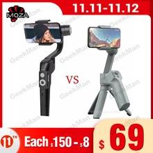 Moza Mini S MINI MX 3 Axis Pieghevole Tascabile Handheld Gimbal Stabilizzatore per iPhone X Smartphone GoPro VS MINI MI Isteady xGimbal a mano