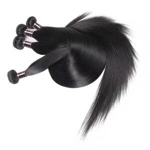 Прямые Пучки натуральных волос, бразильские пучки волос, прямые 100% натуральные волосы Remy для наращивания, 30, 32, 40 дюймов, прямые пучки