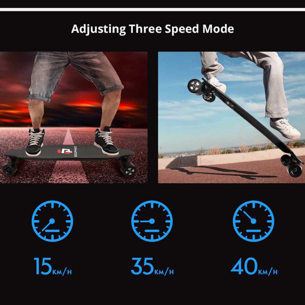 RDZ 07 Pattino Elettrico Dual Motori 600W 6600mAh Batteria Max Velocità di 40 km/h Con Telecomando-Nero