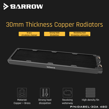 Barrow Dabel 30a 480 Copper Radiator 30mm Thickness 14pcs Circulation Channel Suitable For 120mm Fans