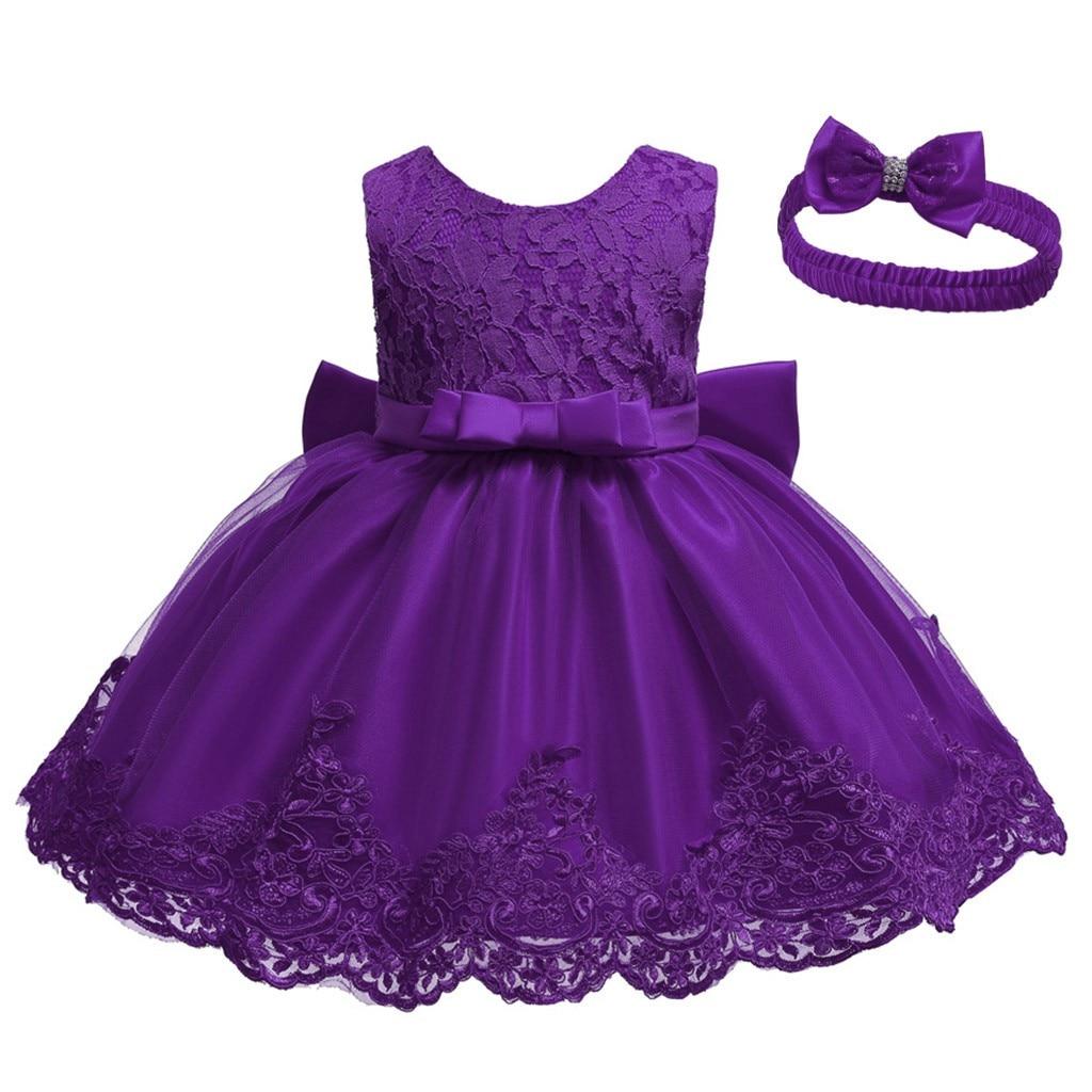 Toddler Baby Kid Girls Bowknot Princess Wedding Formal Tutu Dress+Headband Set