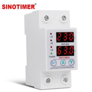 Image 1 - Protecteur de relais des surtensions 63a, 220V 230V, dispositif de Protection des surtensions, courant réglable