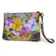 NOISYDESIGNS Women Clutch Bag Painting Pansy Flowers Pu Leather Enveloped Shaped Messenger Shoulder Bags Big Sale Pochette Femme