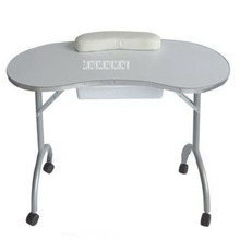 Portable Mdf Manicure Table With Arm Rest And Drawer Foldable Nail Table Spa Beauty Manicure Desk With Wheels Salon Furniture