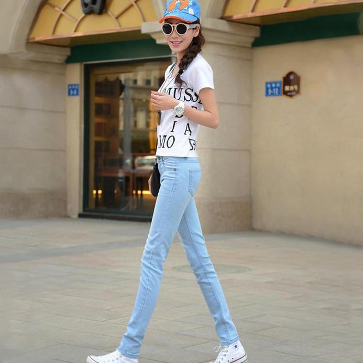 Autumn New Style Simple Versatile Fashion Skinny Pencil Pants Slim Fit Buttock Lifting Cowboy Trousers Women's