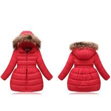 Coats Outwear Down-Jacket Hooded Warm-Down Autumn Girls Kids Winter Children's Fashion