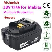 Bateria Makita 18V12Ah Adequado Para BL1830 BL1840 BL1860 18650 Carregador de Bateria Makita DC18RC DC18RD DC18SD Li-ion 18650