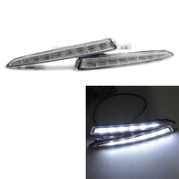 2Pcs Waterproof Car Led Daytime Running Light Drl Daylight Led Car For Ford Kuga Escape 2012 2013 2014 2015 With Fog Lamp(Whit