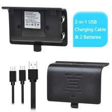 2 аккумулятора 1100 мАч + в 1 usb кабель для xbox one/one s/one