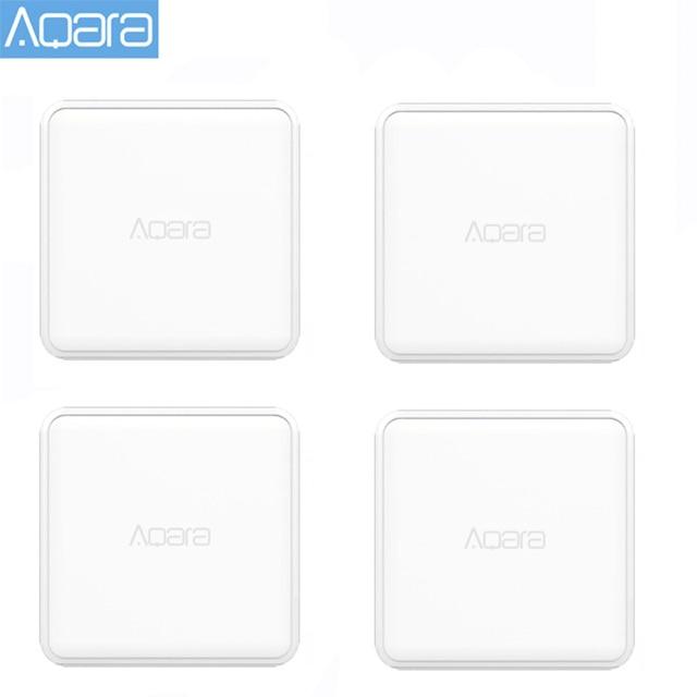 جهاز تحكم لمكعب سحري Aqara أصلي إصدار زيجبي يتحكم به ستة إجراءات لعمل جهاز منزلي ذكي مع تطبيق Mijia Home