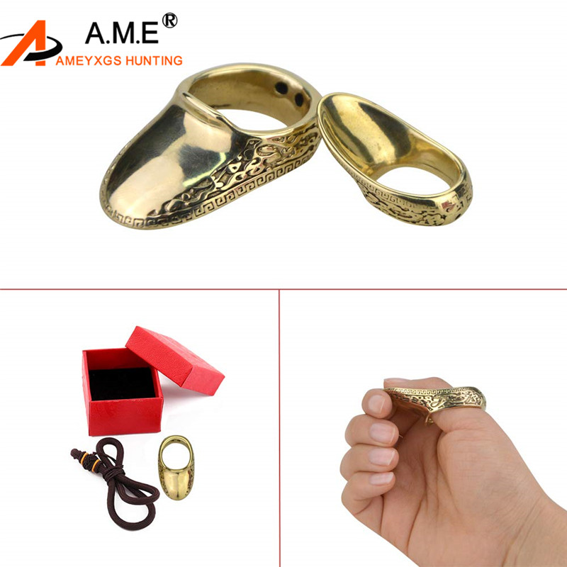 Hunting Thumb Ring Pure Copper High Quality AF Archery Fingerguard Protective