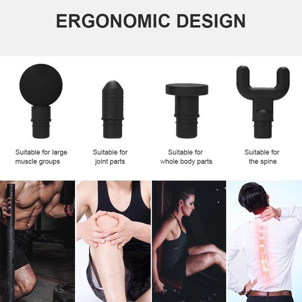 Image 3 - Tissue Massage Gun Muscle Massager Muscle Pain Management after Training Exercising Body Relaxation Slimming Shaping Pain Relief-in Massage & Relaxation from Beauty & Health