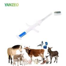 Paquet de Yanzeo 5 puces didentification danimal familier 134.2kHz ISO11784/ISO11784/FDX B étiquettes danimal familier de RFID, cochon de chat de chien danimal familier de chien de puce de RFID de 15 bits 1.