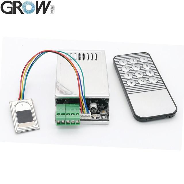 Система контроля доступа и распознавания отпечатков пальцев GROW K216 + R300 емкостный датчик отпечатков пальцев