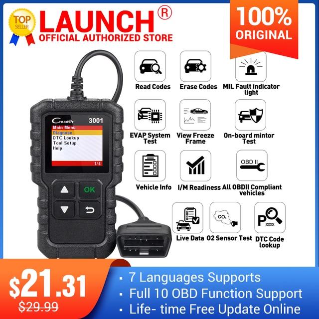 LAUNCH X431 Creader 3001 OBD2 scanner Provide OBDII/EOBD full function CR3001 Diagnostic tool PK ELM327 code reader tool