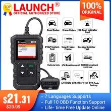 Launch X431 Creader 3001 Escáner lector de código OBDII / EOBD completo Plurilingüe CR3001 herramienta de diagnóstico de coche PK ELM 327 CR319