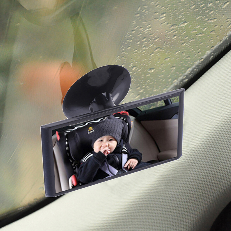 Universal Black Mirror Suction Mirror Rear Baby Mirror Car Accessorie12cm Car Easy View Rear Back Seat Baby Child Safety