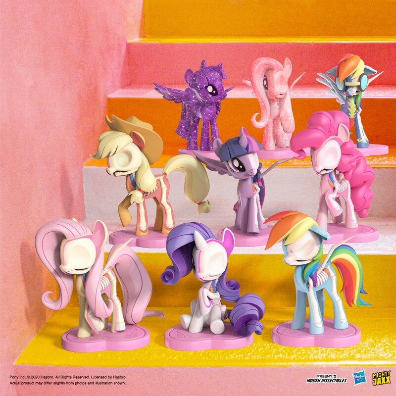 Оригинал могучий Jaxx с рисунком из мультфильма «Мой маленький пони серии глухая коробка игрушки куклы 9 стиль случайных один в виде милого ге...