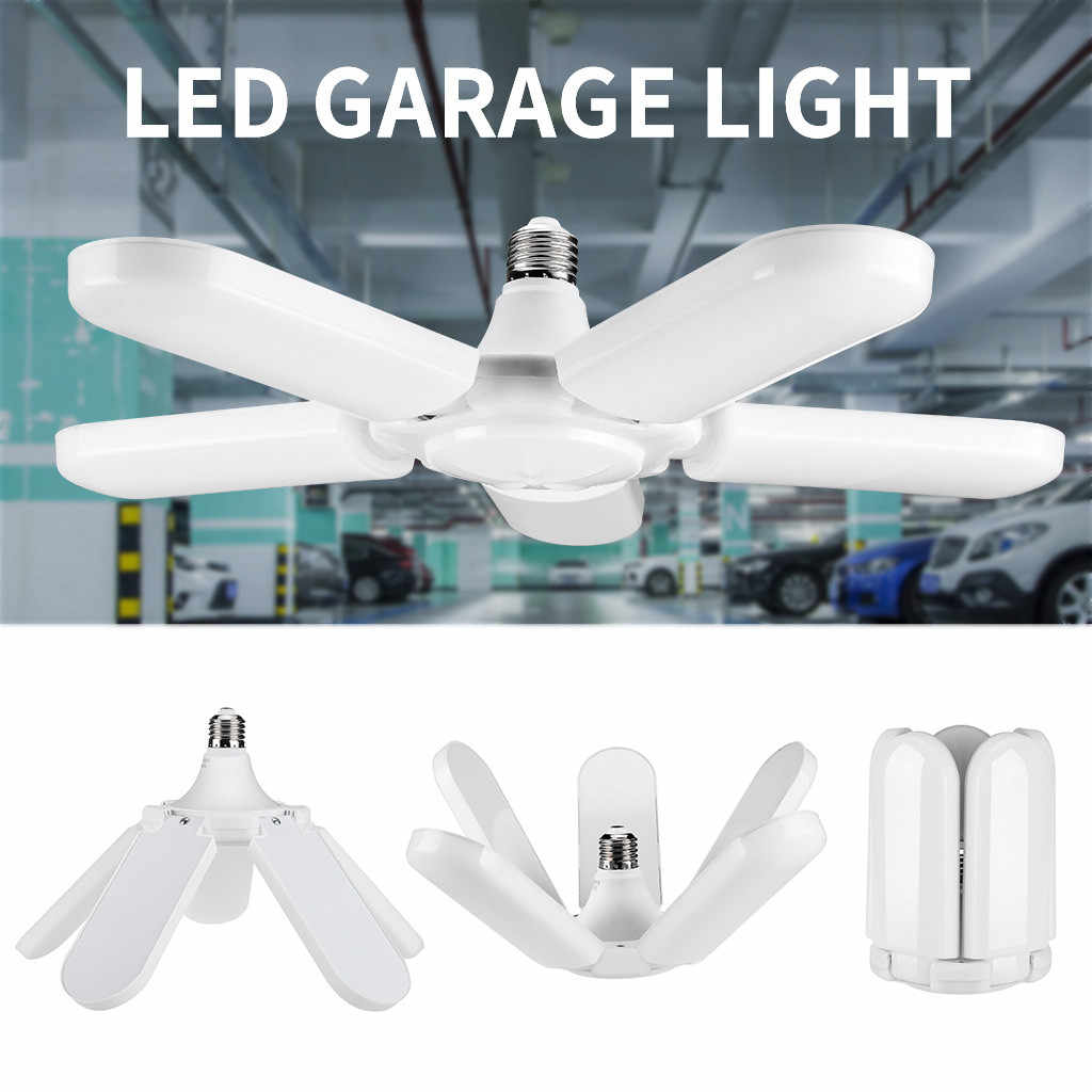 75w 4800lm Basement Deformable Garage Light E27 Foldable 140 Led Workshop Lamp Industrial Lighting Ceiling Fixture Home Office Aliexpress