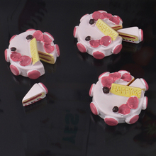 5 PCS Simulation Resin Cream Birthday Cake Kid Toy Slime Clay Charm Filling Accessories Pencil Box Handmade DIY Accessories
