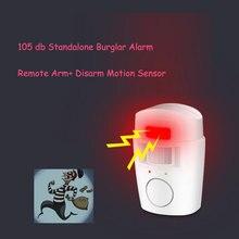 цена на Home Security Standalone Personal Alarm PIR Detector Battery Powered Infrared Anti-theft Motion Sensor Wireless Alarm System
