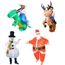 Children Cosplay Costumes Halloween Christmas Party Game Children Inflatable Clothes Props Parent-child Interactive Toys cosplay halloween party game adult children inflatable suit tyrannosaurus rex dinosaur inflatable clothes show props