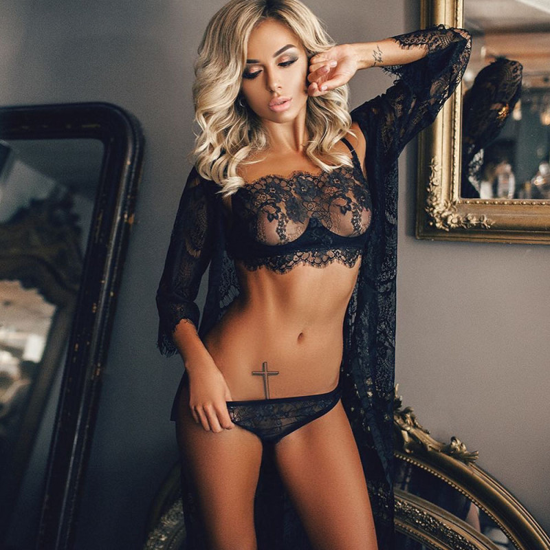 <font><b>Sexy</b></font> Erotic Lingerie Women Sleepwear Lace Hollow-out <font><b>Night</b></font> <font><b>Dress</b></font> Pajama Sleepwear <font><b>Transparent</b></font> Underwear <font><b>Night</b></font> Gown image