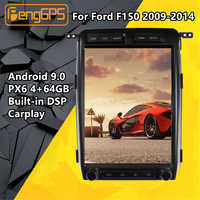 Tesla pantalla Android PX6 para Ford Raptor F150 2009 - 2014 coche multimedia reproductor de Radio Estéreo SIN DVD GPS unidad principal de navegación Audio DSP